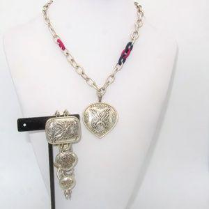 Lucky Brand Butterfly Necklace and Bracelet